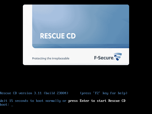 ファイル:F-Secure Rescue CD.png